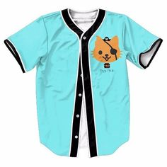 Lovely Pussy Cat Pirate Blue One Eyes Cute Trendy Baseball Jersey #Lovely #Pussy #Cat #Pirate #Blue #One #Eyes #Cute #Trendy #Baseball #Jersey