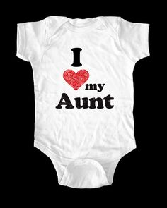 I Love Heart my Aunt onesie or shirt  Printed on Baby by lovespace, $15.99