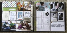 from #aliedwards....love how she uses her Sharpies for larger journaling + the Studio Calico sticky arrow on the photo + the trimmed down 6 x 12 page protector.  Also, notice how Ali gets shots at ground level with the sweet kids.  Great perspective there.