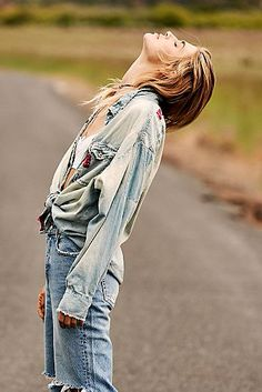 Lace Tops, Off the Shoulder Tops & Vintage Gypsy, Magnolia Pearl, Free People Store, Lace Tops, Denim Shirt, What I Wore, Blue Denim, Outfit Of The Day, Autumn Fashion