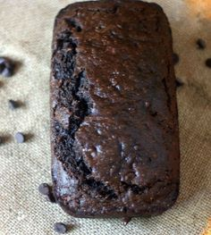 Chocolate Zucchini Bread, a low-fat breat made with whole wheat flour, shredded zucchini and applesauce - bu everydayeileen.com