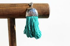 Turquoise Seed Bead Bracelet on Etsy, $14.95