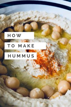 How to make hummus creamy without blender - authentic Lebanese hummus recipe that is so easy you will never buy hummus again. Authentic Lebanese Hummus Recipe, Lebanese Recipes, Make Hummus, Homemade Hummus, How To Make Humus, Real Food Recipes, Cooking Recipes, Healthy Recipes, Diabetic Recipes
