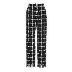 Tiled Straight Leg Trousers | Moda Operandi ($1,895) ❤ liked on Polyvore featuring pants, high waisted pants, straight leg trousers, high-waist trousers, high-waisted trousers and highwaist pants