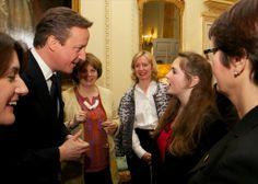 Tesco #MumoftheYear 2014 highlight - Jane Plumb waiting to speak to PM David Cameron at 10 Downing Street on International Women's Day