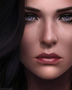Yennefer of Vengerberg Fan Page The Witcher Game, The Witcher Wild Hunt, The Witcher Geralt, Witcher Art, Ciri, Digital Art Girl, Digital Portrait, Portrait Art, Female Character Inspiration