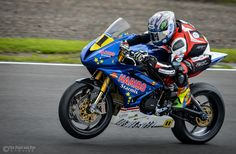 https://flic.kr/p/DtznU8 | Joe Collier | Joe Collier rides his Triumph from Team Haribo Starmix in the British Supersport Evo class at Knockhill Racing Circuit.