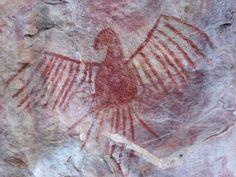 Os principais sítios arqueológicos pré-coloniais do Brasil,Pintura rupestre de… Colonial, Henri Matisse, Ancient Art, Prehistoric, Rock Art, Tattoo Drawings, Archaeology, Wall Art, History