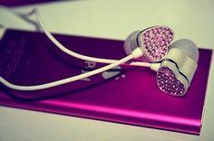 heart headphones