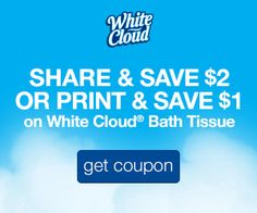 Wanted to share some comfort AND some #savings. Get up to $2 off White Cloud® Bath Tissue now.