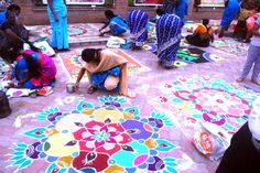 Kolam contest. Photo: A. Shrikumar