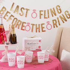 It's her last fling before the ring, and we have all you need to prepare for the big night! This Last Fling Before the Ring 66 Piece Bachelorette Party Kit features bachelorette party supplies that in