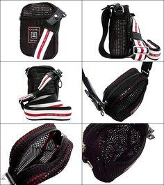 a58a575fd41 import-collection  Chanel CHANEL ☆ bag (shoulder bag) black x red sport  line Chanel mesh Pochette discount % Women s sale back SALE