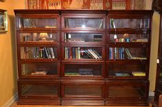 Mahogany Barrister Bookcase / Stacking Bookcase by OakParkAntiques, $2499.00 Barrister Bookcase, Antique Bookcase, Bookcase Door, Bookcase Styling, Bookshelf Design, Bookcases For Sale, Bookshelves, Daybed Design, Cool Furniture