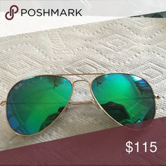 60ed7af4566 RAYBAN Sunglasses 100% authentic RAYBAN aviator green mirror Ray-Ban Accessories  Glasses Green Mirrors