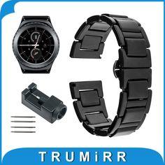 20mm Ceramic Watchband for Samsung Gear S2 Classic R732 & R735 Moto 360 2 Gen 42mm Men 2015 Smart Watch Band Link Strap Bracelet //Price: $33.49 & FREE Shipping // #jewelry #jewels #jewel