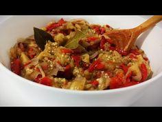 Cea mai gustoasa salata de vinete cu ardei copti si ceapa marinata pentru iarna. - YouTube Ratatouille, Mai, Vegan, Ethnic Recipes, Youtube, Food, Salads, Essen, Meals