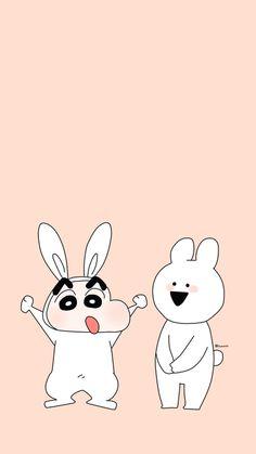 [아이폰 배경화면] 오버액션토끼x짱구토끼 배경화면 공유 : 네이버 블로그 Sinchan Wallpaper, Cute Pastel Wallpaper, Crayon Shin Chan, Cute Cartoon Pictures, Cute Pictures, Sinchan Cartoon, Cartoons Love, Cute Cartoon Wallpapers, Cute Drawings