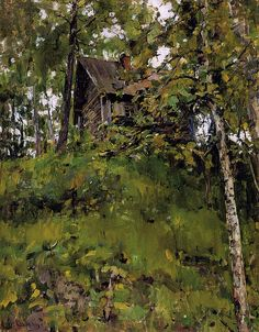 Old Bath-House in Domotkanovo (1888) // Valentin Serov