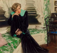 Tom Lovell (American, 1909-1997). Pensive Woman, McCall's magazine | Lot #71173 | Heritage Auctions