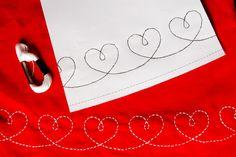 Winch: TEMPLATE FOR DRESS WITH HEARTS BAR. HART GARLAND DRESS PATTERN