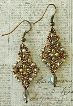 Linda's Crafty Inspirations: Free Mini Tutorial: Easy Earrings Variation