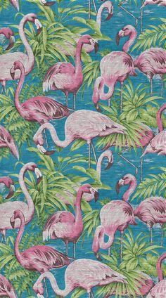 Drôles d'oiseaux Papier peint Flamingo, collection Avalon (Arte International)