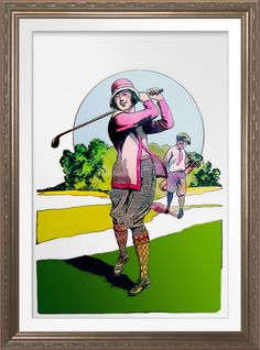 'The Compleat Lady Golfer' - Art On Canvas Print. Vintage 1925 magazine illustration reproduced on premium canvas. One for the golfer's wall http://www.zazzle.com/the_compleat_lady_golfer_art_on_canvas_print-228919791218668209 #golf #WomensGolf #art #prin