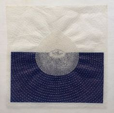 "'Half Empty' (2007) by American artist Kristen Miller. Organdy, fruit wrapper, glass beads, silk & nylon thread,  11 1/2"" x 11"". via dear ada. Source: PDX"