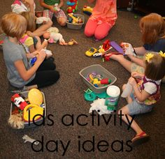 LDS Activity Day Ideas: Family Skills/cleaning nursery