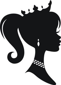 Cameo Princess Silhouette vinyl decal by VinylDesignsByCJ on Etsy, $9.95