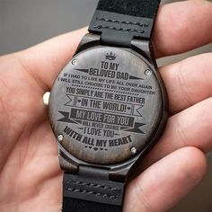 Watch For Men - Great Gifts For Dad Engraving Wooden Watch - Perfect Gifts For Your Dad Bday Gifts For Him, Surprise Gifts For Him, Gifts For Fiance, Great Gifts For Dad, Perfect Gift For Dad, Love Gifts, Men Gifts, Ladies Gifts, Claddagh Ring