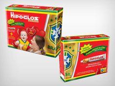 Edição especial da Copa Hipoglos #2014FifaWorldCupBrasil PD E Commerce, Marketing, World Cup, Toy Chest, Packaging Design, Formulas, Baby, Packaging, Ideas