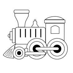 Black and White Train | Coloring Pages • Toy Train Engine • Toy Train Engine (Printable ...