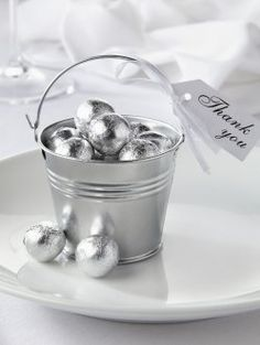 Silver Tin Favour Pail