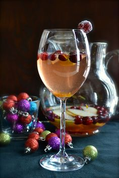 Cranberry Pear Sangria... since someone(s) ate the apples I was gonna use for cran-apple rosemary sangria.