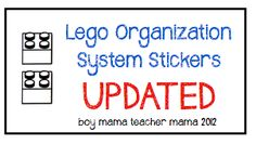 Boy Mama: Lego Organization System Stickers (Updated)