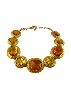 1e623942ced YVES SAINT LAURENT * Robert Goossens * Spectacular necklace embellished  with amber nuggets