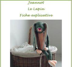 Fiche explicative de Jeannot le Lapin : Tutoriels de fabrication par le-monde-de-sophie