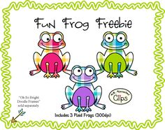 Fun frog freebie!  http://www.teacherspayteachers.com/Product/Fun-Froggie-Freebie-Clip-art-1211089