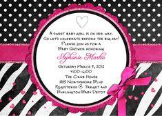 free printable hot pink zebra invitations   Free Printable Zebra Print Birthday Party Invitations