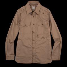UNIONMADE - ts(s) - Cotton Tencel Bush Shirt in Beige