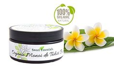 Organic Monoi de Tahiti Butter  100 Pure Monoi Butter  Large 8oz Jar  Imported From Tahiti  Perfect for Hair Skin  Nails  Moisturizing  Hydrating  Great Exotic Scent *** Read more  at the image link.