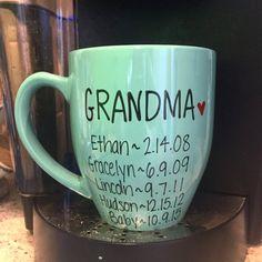 Pregnancy announcement mug grandma mug by simplymadegreetings