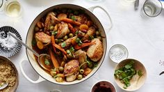 You can also make the tagine with an equal weight of chicken thighs and drumsticks (or all thighs).