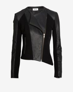 Helmut Lang EXCLUSIVE Gala Leather Detail Double Zip Jacket Style# E01HW199 $795.00  $595.00