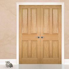 Deanta Kingston oak Door Pair Unfinished & Kingston Oak | Puertas blancas | Pinterest | Walnut doors ...