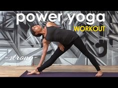 Power Yoga Workout - Simple, Strong Cardio Flow ♆ - Whhat cardio? NO cardio or challenging element here.