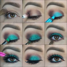 This is the right way to make a color pop! (great choice of aquablue for brown eyes, way to go!)