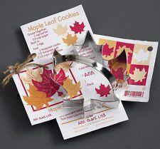 Ann Clark Large Steel Cookie Cutters w Recipe Cards: Maple Leaf Canada - 01-080
